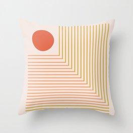 Lines & Circle 02 Throw Pillow