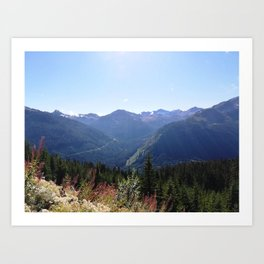 Serenity of the mountains Art Print