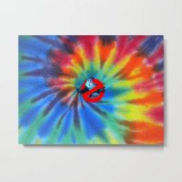 Ghostbusters Psychedelic No Ghost - Tie Dye Shambhala Metal Print