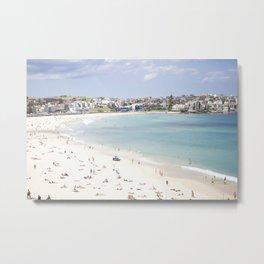 Bondi Beach White Sand Metal Print