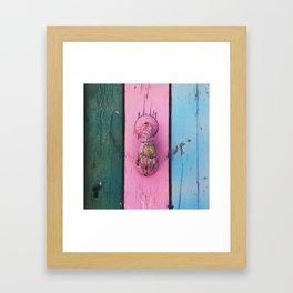 Knock knock knocking  Framed Art Print