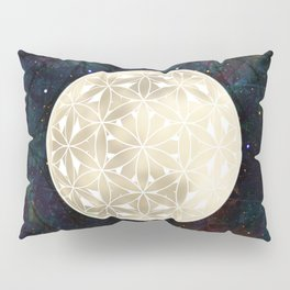 The Flower of Life Moon 2 Pillow Sham
