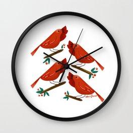 12 Days of Christmas: 4 Calling Birds Wall Clock