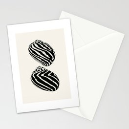 Two Neritae Sea Shells Stationery Cards
