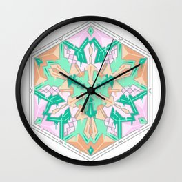 Drippy mandala Wall Clock