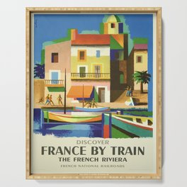 Vintage poster - French Riviera Serving Tray