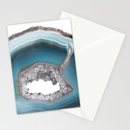 Deep Blue Agate with Amethyst Stationery Cards