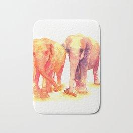 A couple of elephants Bath Mat