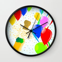 Balloon Party Wall Clock