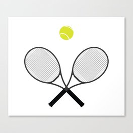 Tennis Racket And Ball 2 Canvas Print