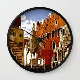 Vintage Verona Italy Travel Wall Clock