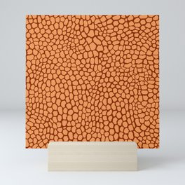 Reptile Pattern Rust and Peach Mini Art Print