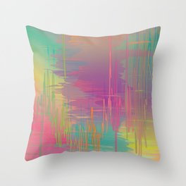 Rainbow Storm Throw Pillow