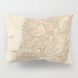 Vintage Map of Lebanon (1862) Pillow Sham