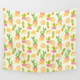 Little Pricks - Orange & Green Wall Tapestry