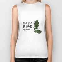 humor Biker Tanks featuring Kale humor by A*WIZ