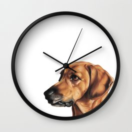 Dog Artwork in coloured pencil Wall Clock