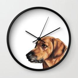 Dog Artwork in coloured pencil Wall Clock