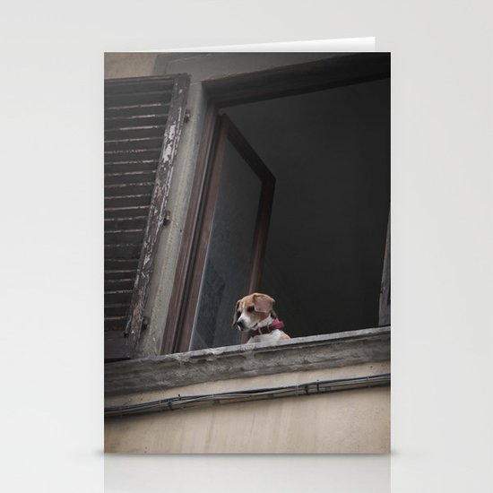 take me with you _ Beagle in a window Stationery Cards