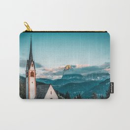 Dolomiti Church in the Mountains   Travel   Photography   Italy    Carry-All Pouch