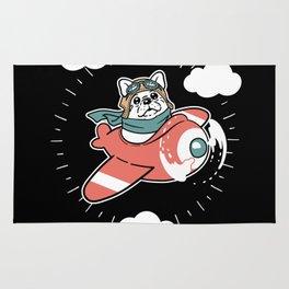 Pug Plane Rug