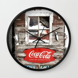 Snow Shed Vintage Signs Wall Clock