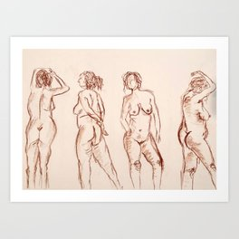 The Naked Lady Art Print
