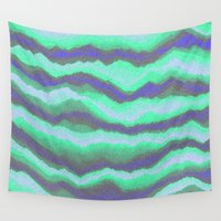 northern lights Wall Tapestries featuring Northern Lights by paulusjart