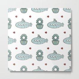 Submarine Diver Metal Print