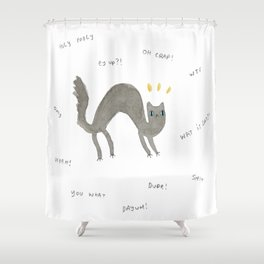 Scaredy Cat Shower Curtain