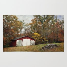 Cromwell Barn in Autumn Rug