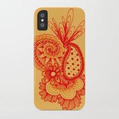 Red Arabesque Slim Case iPhone X