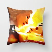 river song Throw Pillows featuring Find River Song by Nero749