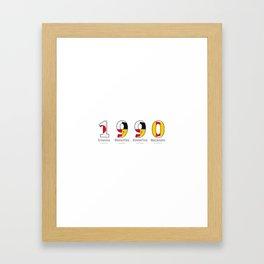 1990 - NAVY - My Year of Birth Framed Art Print
