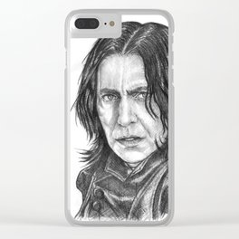 Snape Portrait Clear iPhone Case