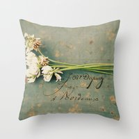 clover Throw Pillows featuring clover by Beverly LeFevre