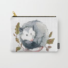 Possum and Oak Leaves Carry-All Pouch