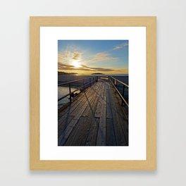 Good Harbor Beach Footbridge Shadows Framed Art Print