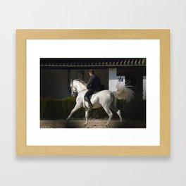 Pearl Horse Framed Art Print