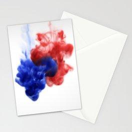 Patriotic Ink Drop Stationery Cards