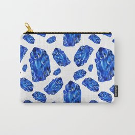 Tanzanite Birthstone Watercolor Illustration Carry-All Pouch