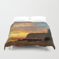 coyote Duvet Covers featuring Coyote Beach by Andooga Design