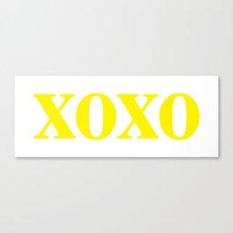 Yellow XOXO Canvas Print