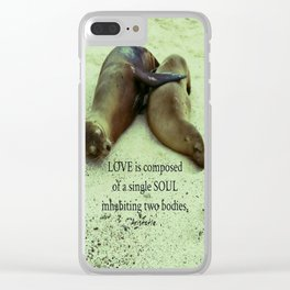 Love soul Aristotle quote Clear iPhone Case