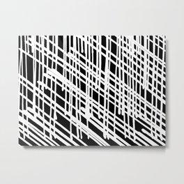white on black Metal Print
