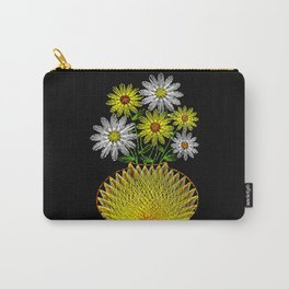 String Art Flowers Carry-All Pouch
