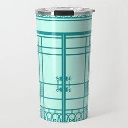 ART DECO, ART NOUVEAU IRONWORK: Blue Green Dream Travel Mug
