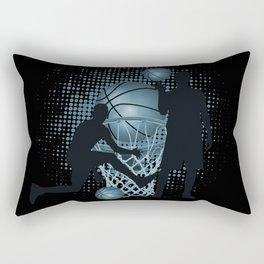 Slam Dunk Basketball Rectangular Pillow