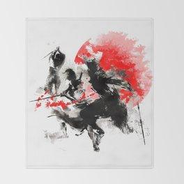 Samurai Duel Throw Blanket