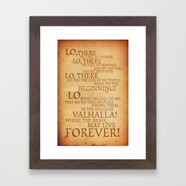 Viking Prayer Framed Art Print